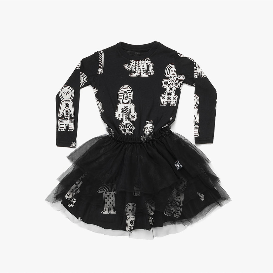 ALL OVER TRIBAL DANCERS TULLE DRESS (kids) 20% sale
