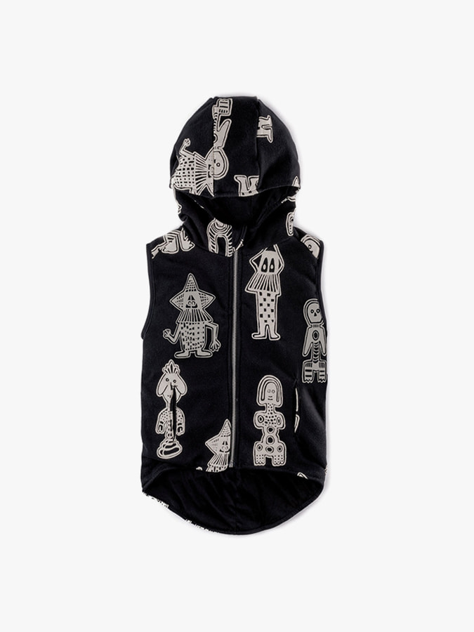ALL OVER TRIBAL DANCERS HOODED VEST (kids)