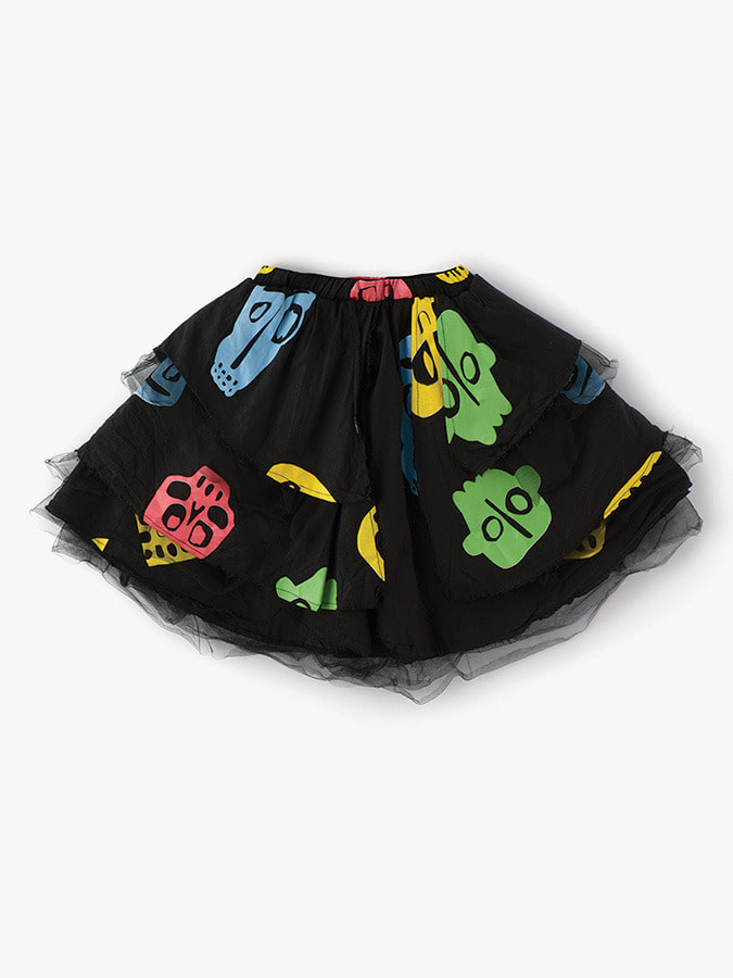Rowdy masks voile skirt (kids)