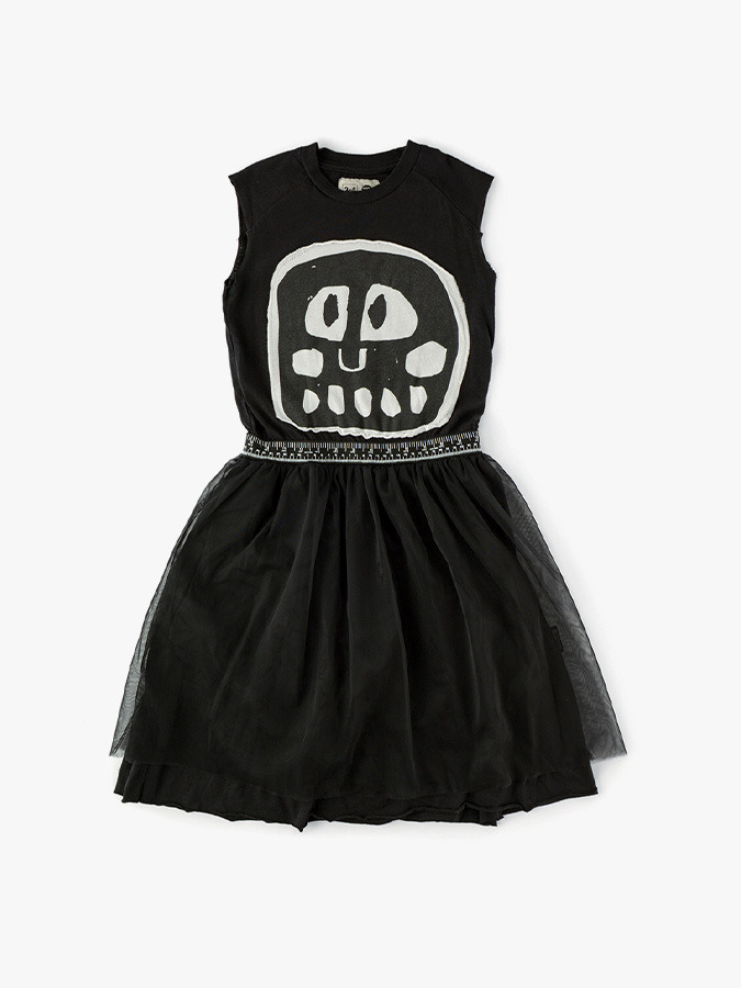 Mega rowdy mask tulle dress (baby)
