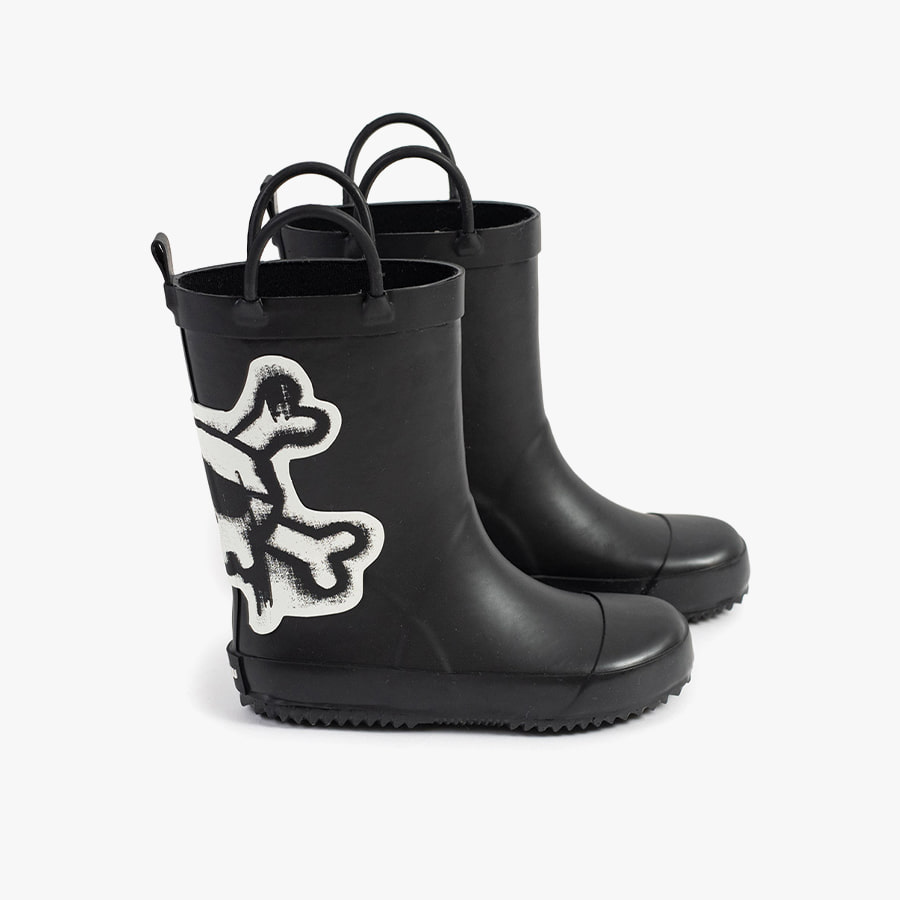 Skull patch rainboots (kids)
