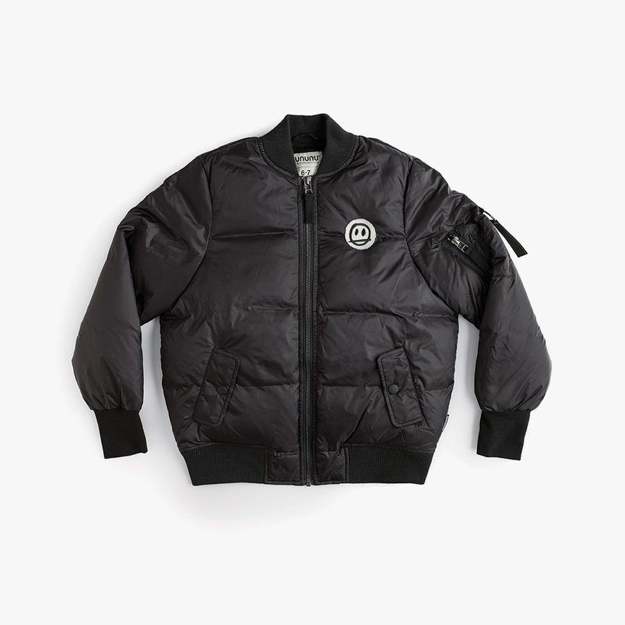 Sprayed no! down bomber jacket (kids)