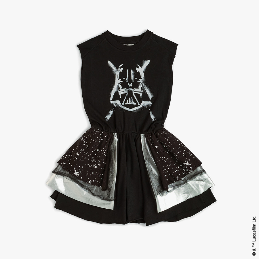 Darth vader layered galaxy dress (kids)